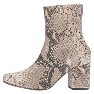 Free People Cecile Snakeskin leather ankle boots